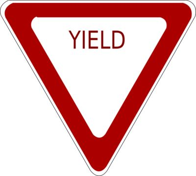 schoolfreeware Yield Road Sign