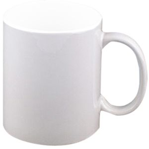15oz White Ceramic Mug Thumbnail